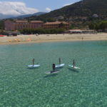 paddle corsica mer sable fin soleil paysage